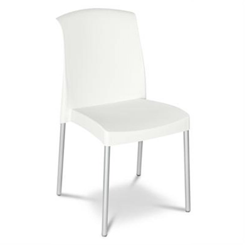 Jenny Set of 2 Commercial Grade Chairs - White
