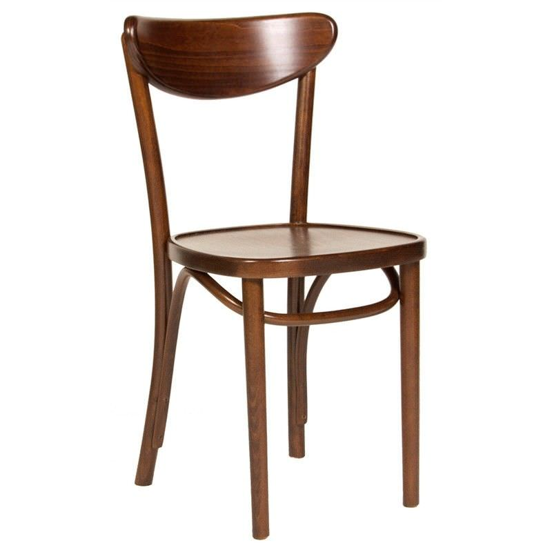 Modena Polish Made Commercial Grade Solid Beech Timber Dining Chair - Walnut