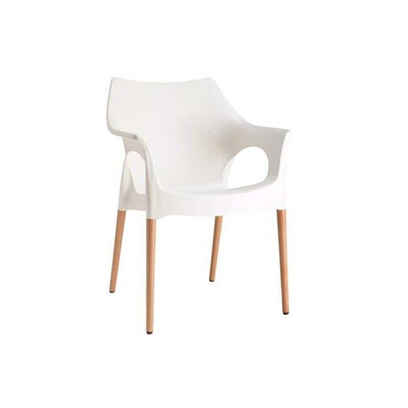 Italian Made Ola Armchair Commercial Grade - White