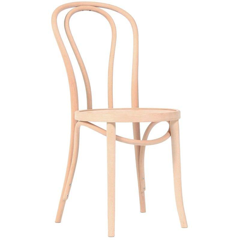 Princess Polish Made Commercial Grade European Beech Timber Dining Chair - Natural