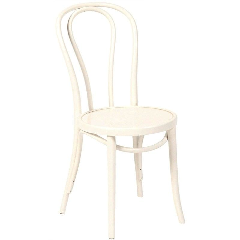 Princess Polish Made Commercial Grade European Beech Timber Dining Chair - White