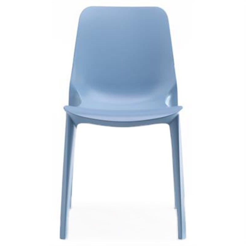 Ginevra Italian Made Commercial Grade Indoor/Outdoor Side Chair, Blue