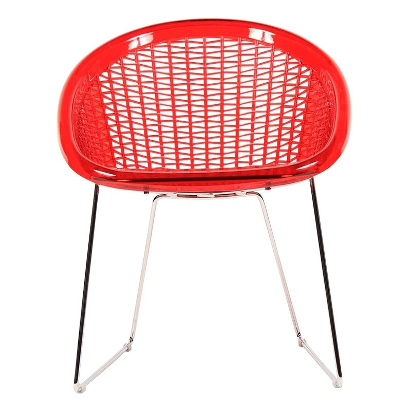 St Tropez Italian Made Commercial Grade Side Chair - Red