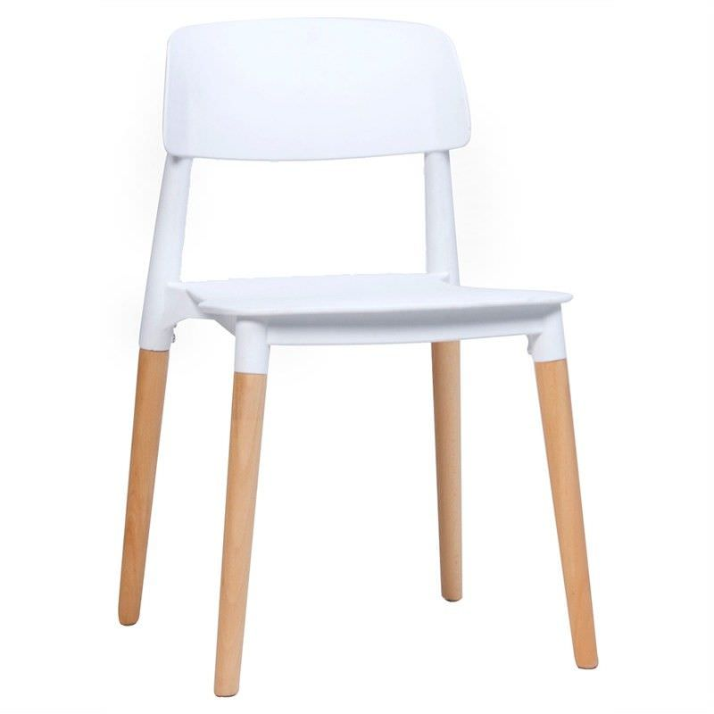 Tulsa Commercial Grade Dining Chair - White