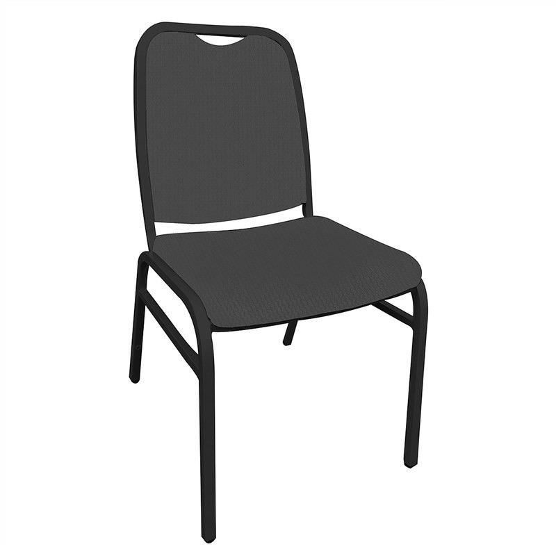 Utah Commercial Grade Stackable Dining Chair - Charcoal/Black