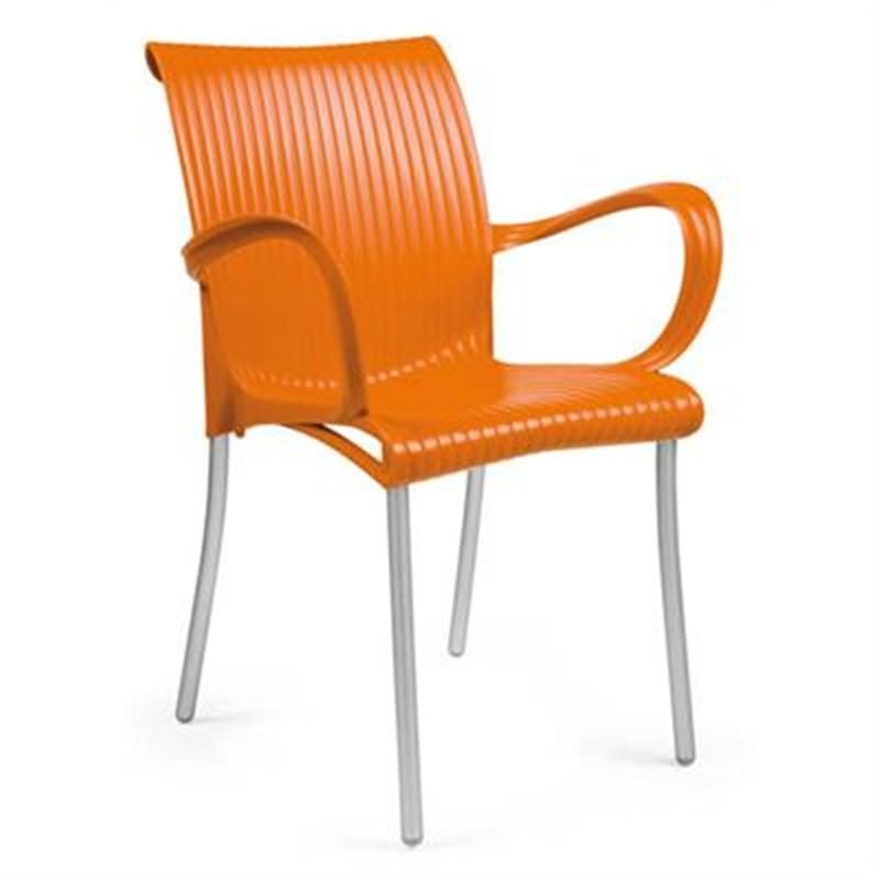 Verona Set of 2 Commercial Grade Armchairs - Orange