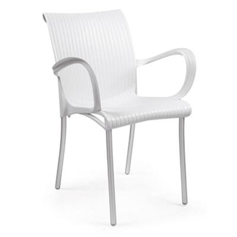 Verona Set of 2 Commercial Grade Armchairs - White