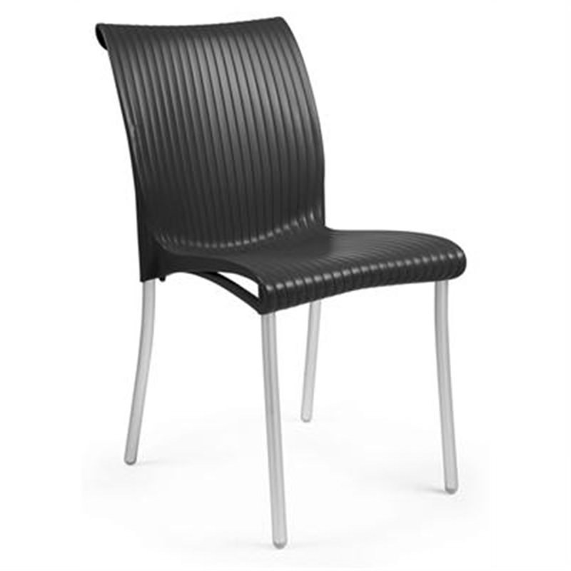 Verona Set of 2 Commercial Grade Side Chairs - Black