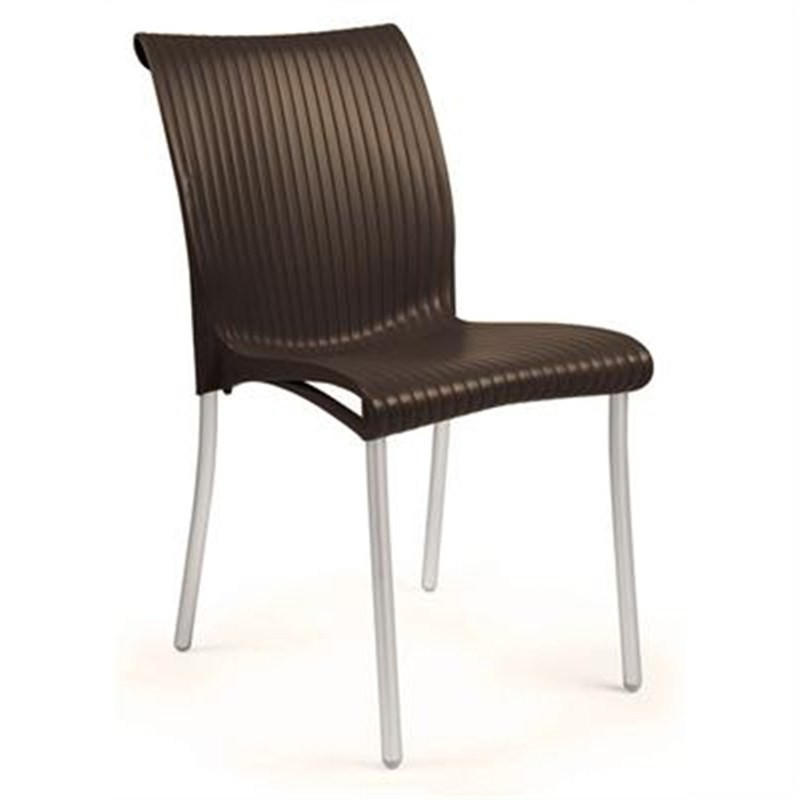 Verona Set of 2 Commercial Grade Side Chairs - Chocolate