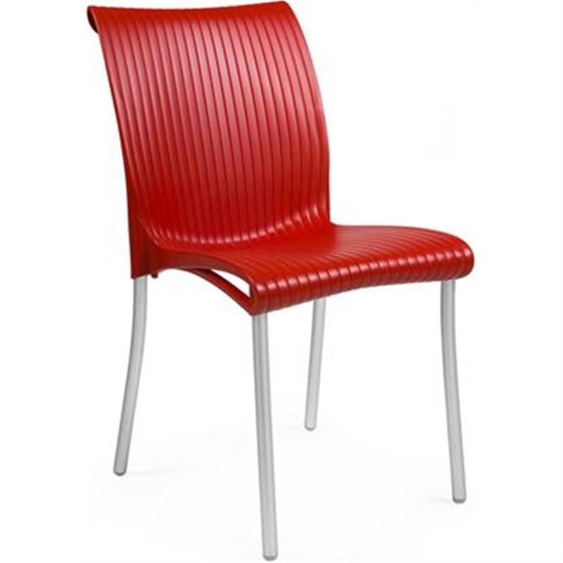 Verona Set of 2 Commercial Grade Side Chairs - Red