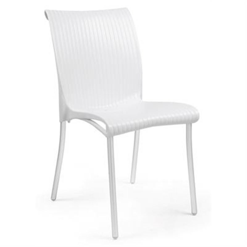 Verona Set of 2 Commercial Grade Side Chairs - White
