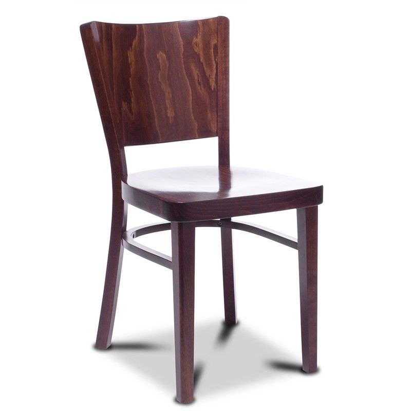 Warsaw Polish Made Commercial Grade European Beech Timber Chair - Walnut