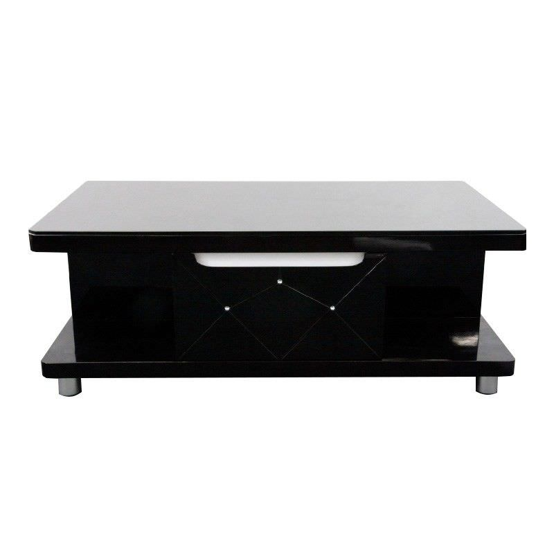 High Gloss Black Coffee Table - 110cm