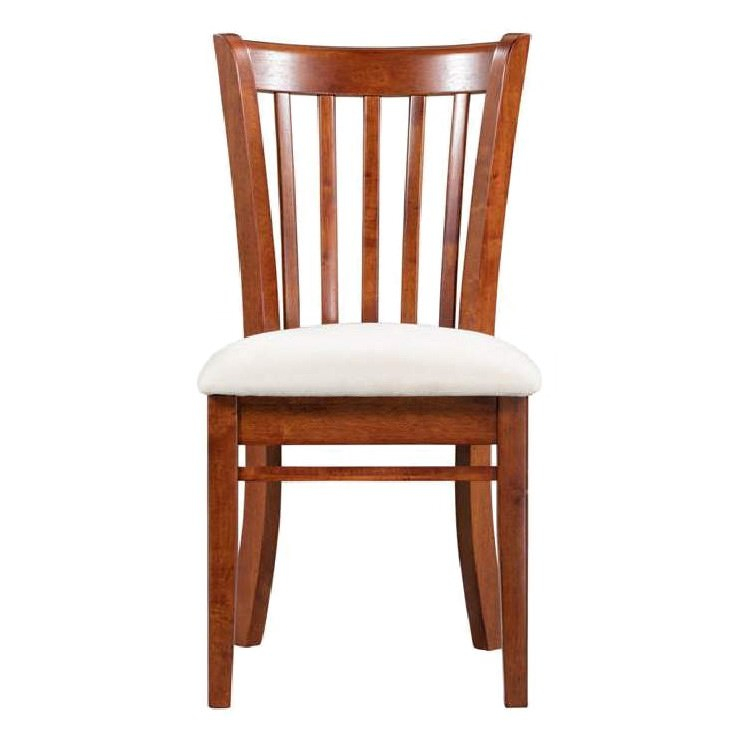 Lismore Rubberwood Timber Dining Chair with fabric Seat
