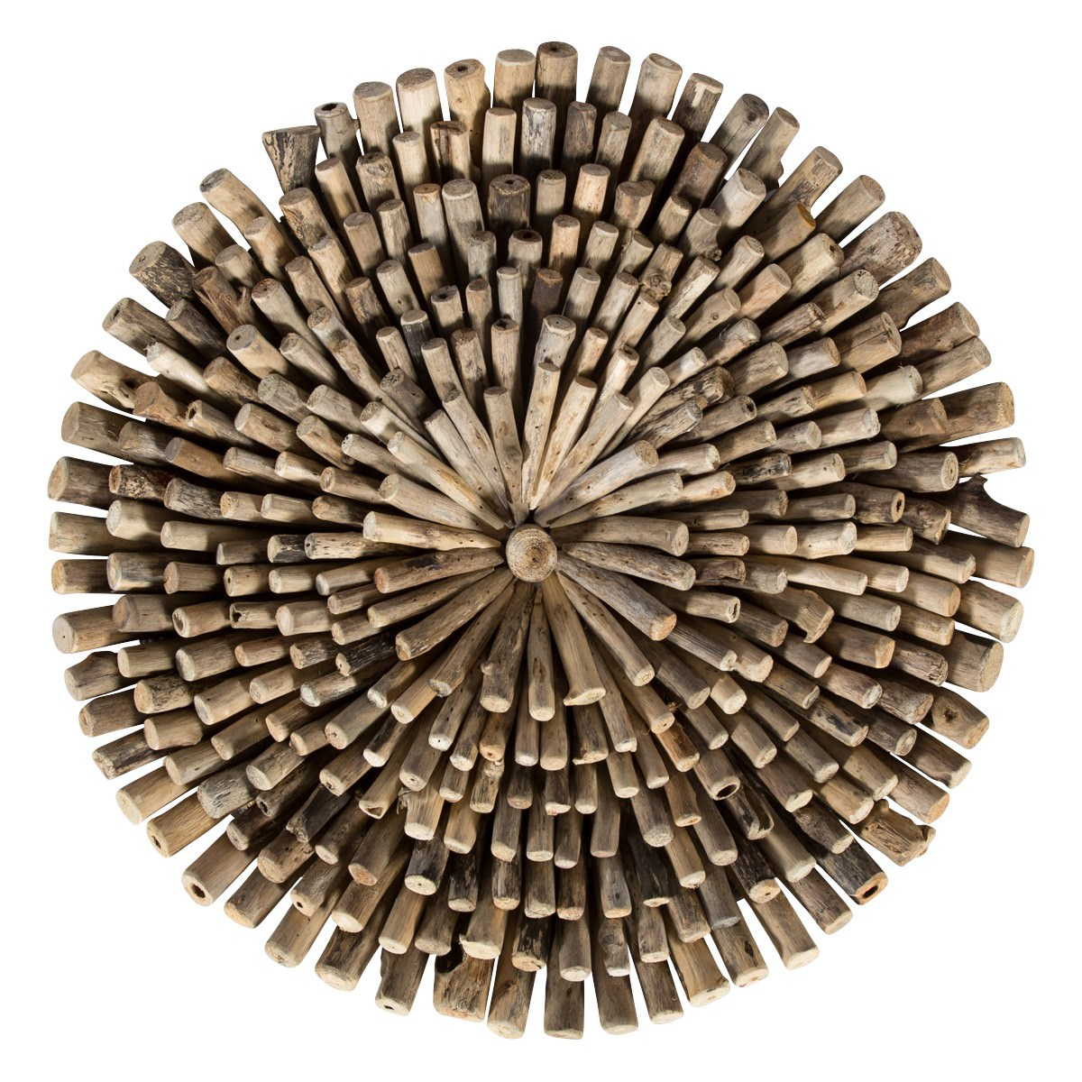Mange Driftwood Wall Art, Round