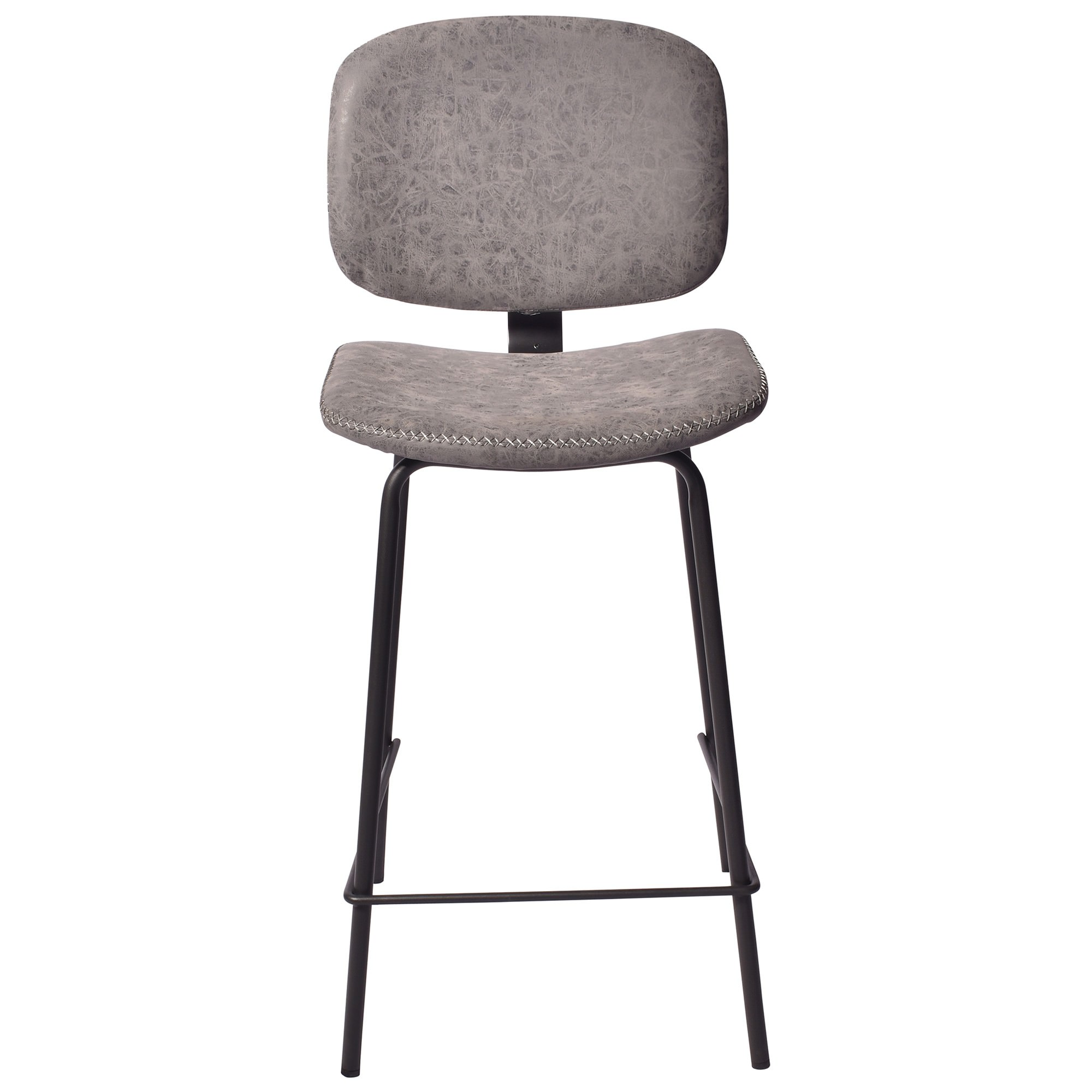 Lismore PU Leather Counter Stool, Seal Grey