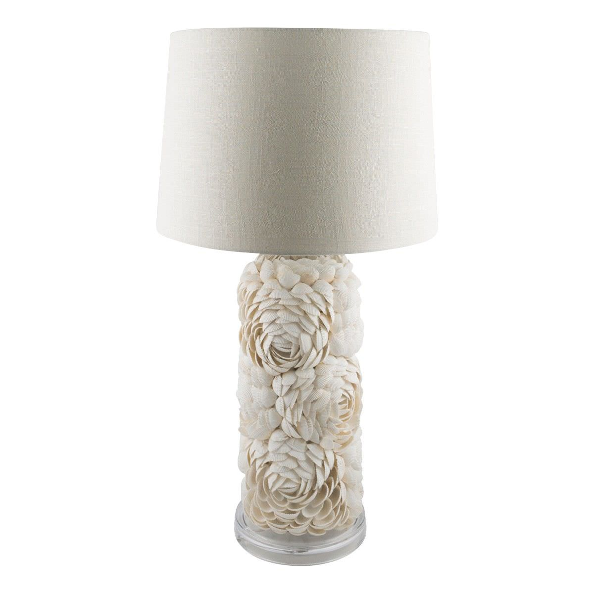 Cedella Tall Layered Shell Base Table Lamp