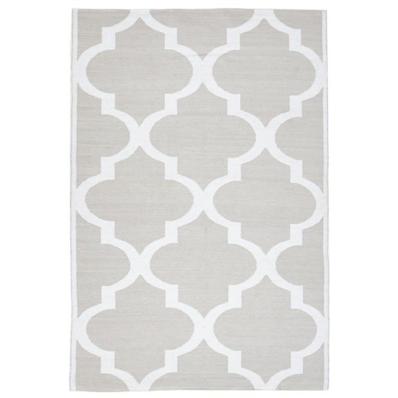 Coastal Trellis 150x220cm Indoor/Outdoor Rug - Taupe