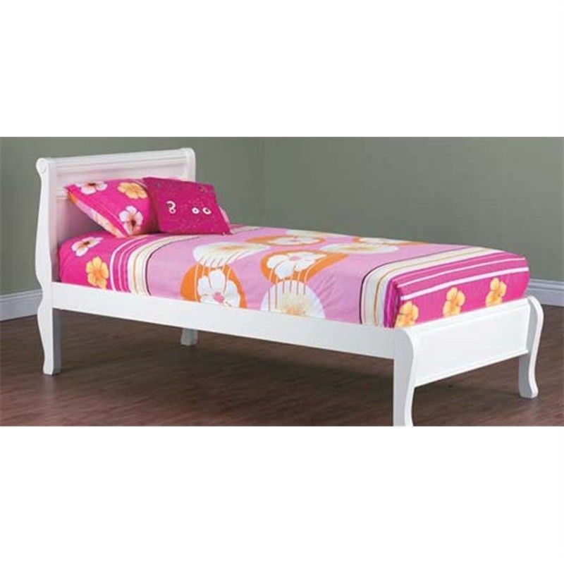Copenhagen King Single Bed In Arctic White