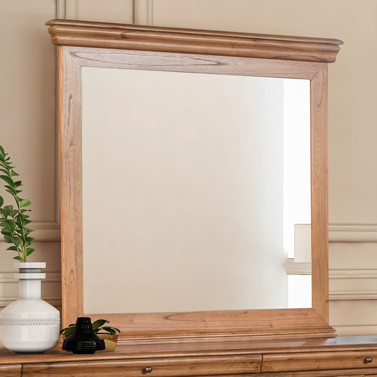 Courtney Mindy Wood Frame Dressing Mirror, 100cm