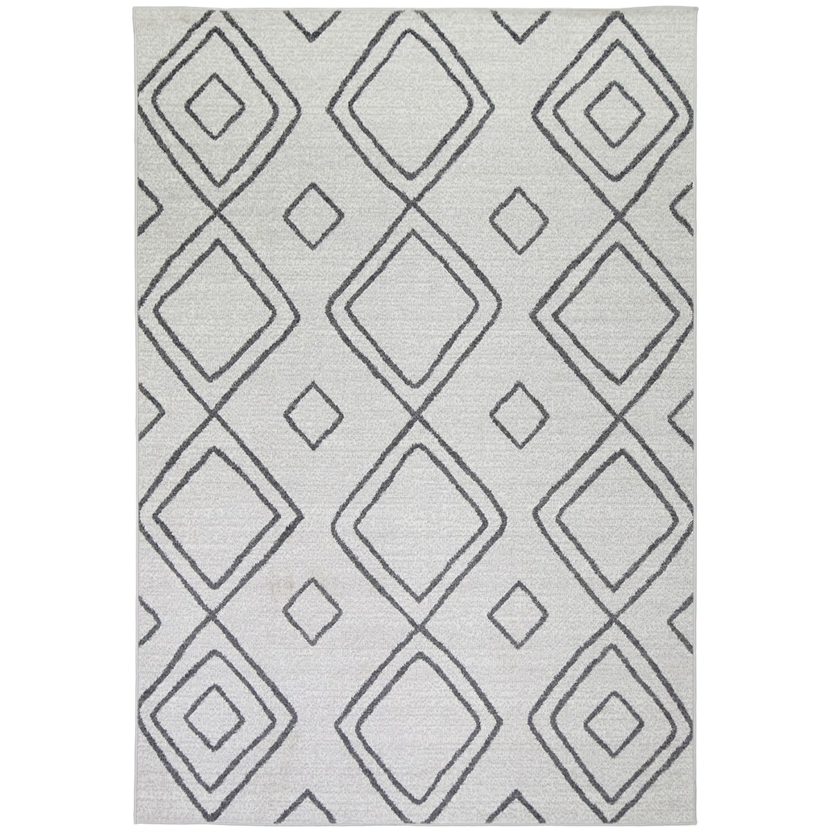 Courtyard Marrakesh Modern Rug, 150x80cm, Ivory / Grey