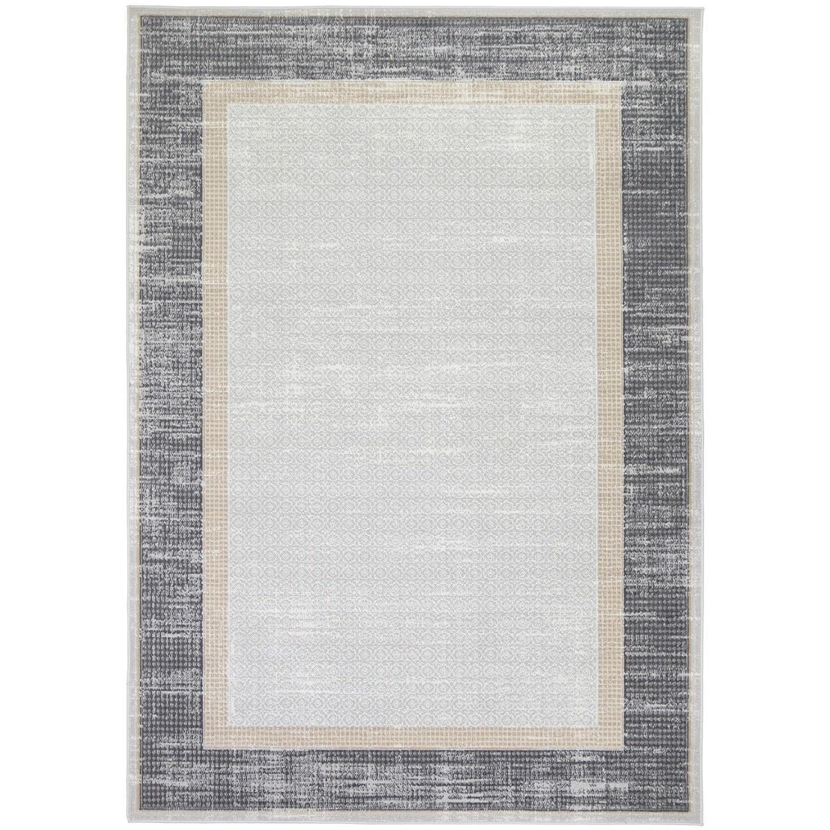Courtyard New York Modern Rug, 150x80cm, Grey / Charcoal