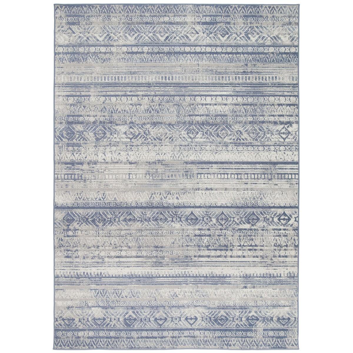 Courtyard Rome Modern Rug, 330x240cm, Blue / Cream