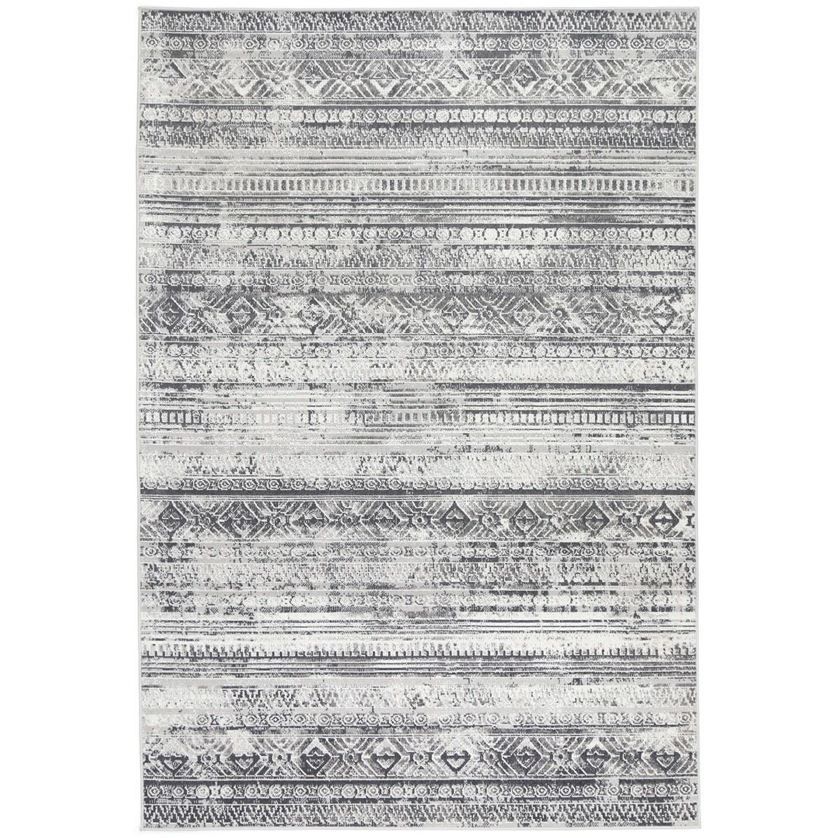 Courtyard Rome Modern Rug, 330x240cm, Grey / Cream
