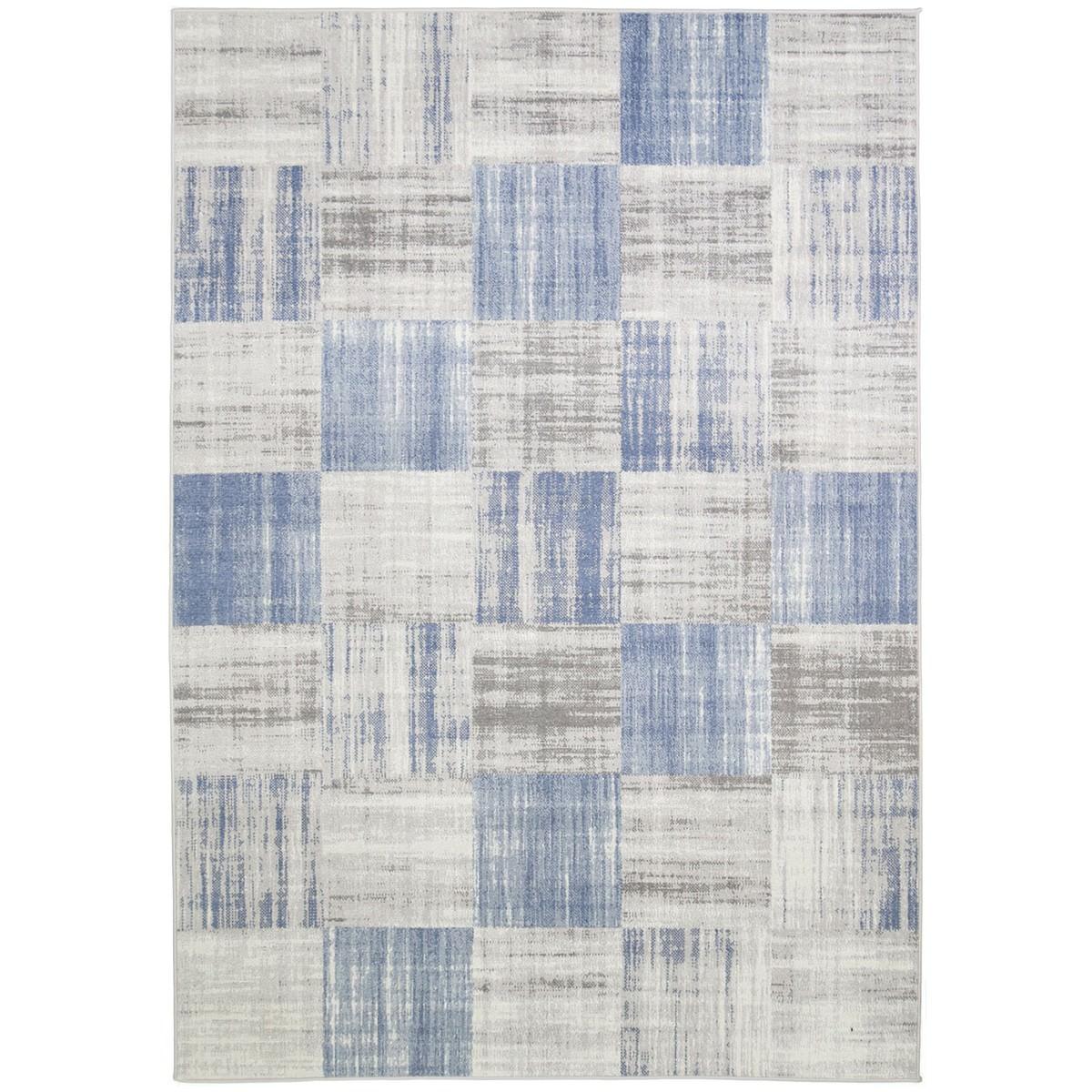 Courtyard Robson Modern Rug, 290x200cm, Blue / Grey
