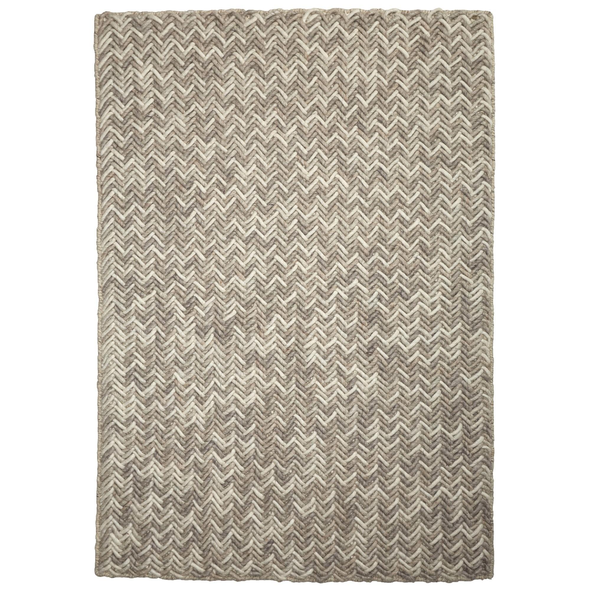 Crisscross Handwoven Wool Rug, 225x155cm