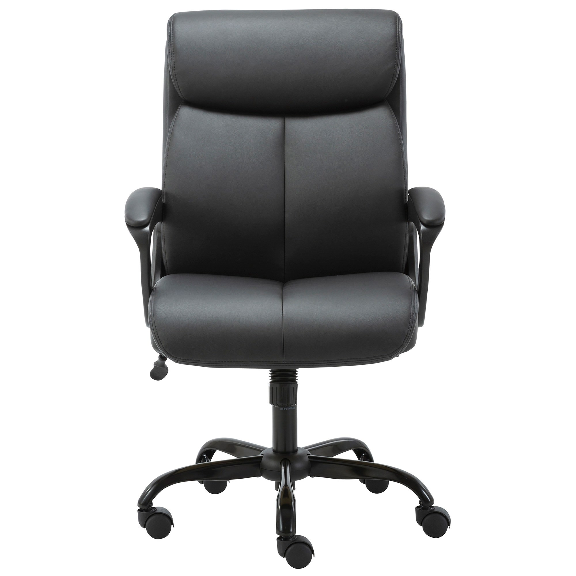 Puresoft PU Leather Office Chair, Mid Back