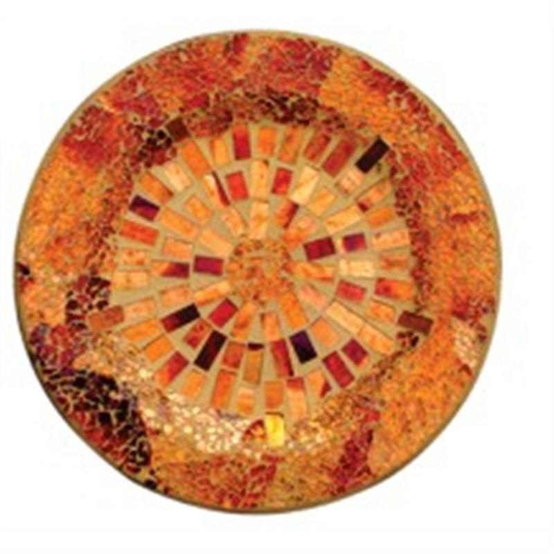 Mosaic Decoration  Round Plate Small