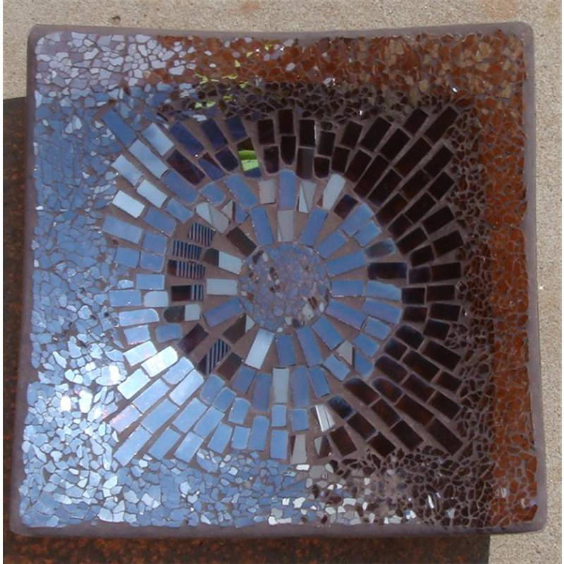 Mosaic Decoration Square Plate Large