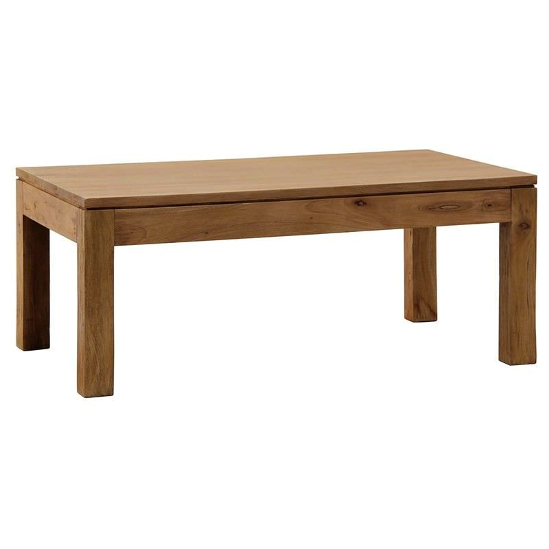 Amsterdam Solid Mahogany Timber Coffee Table, 100cm, Teak