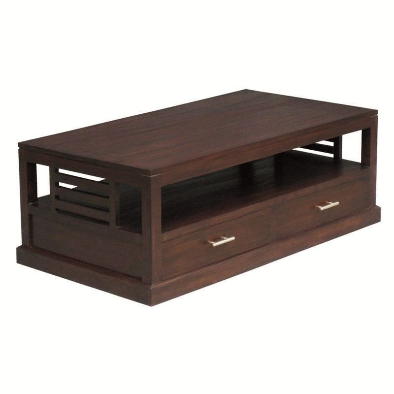 Holland Solid Mahogany 4 Drawer Coffee Table in Chocolate