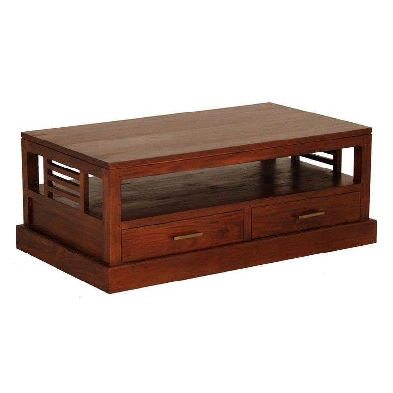 Holland Solid Mahogany 4 Drawer Coffee Table in Mahogany