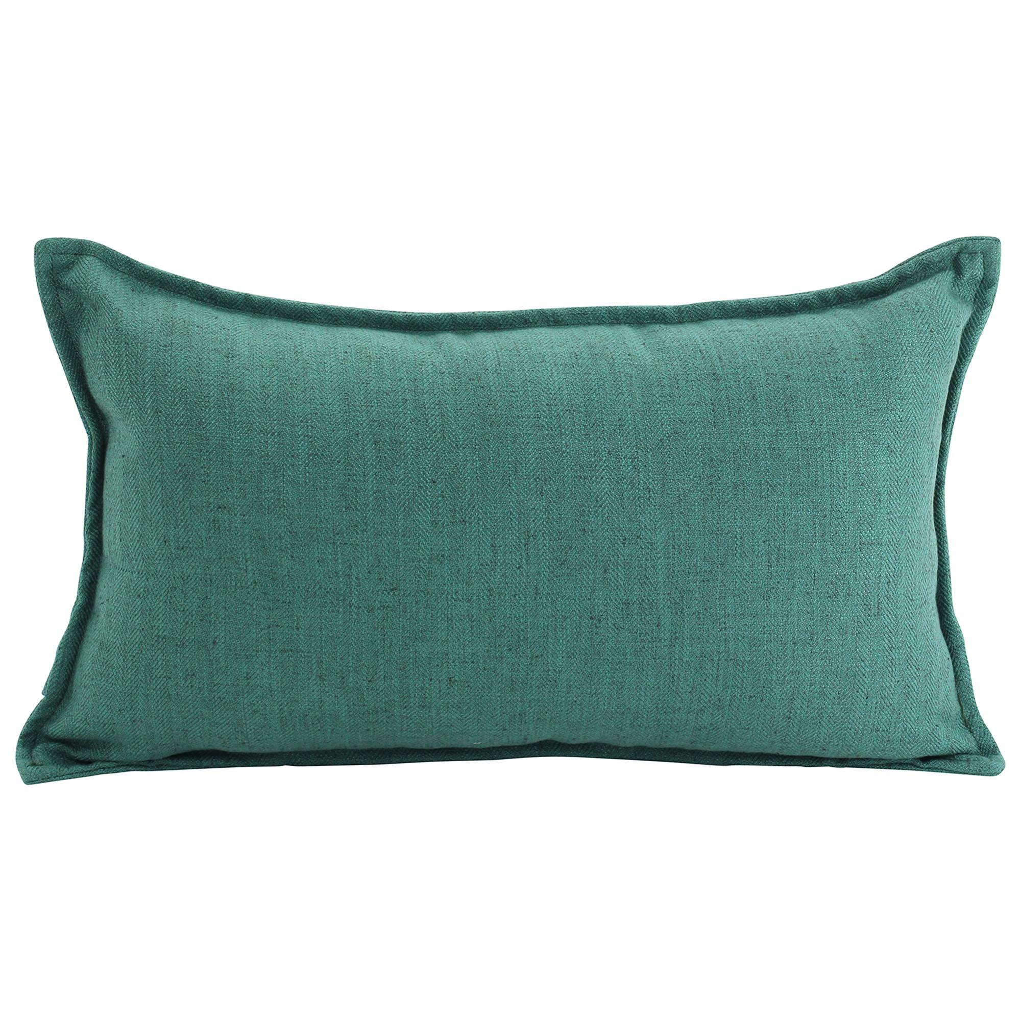 Farra Linen Lumbar Cushion, Green