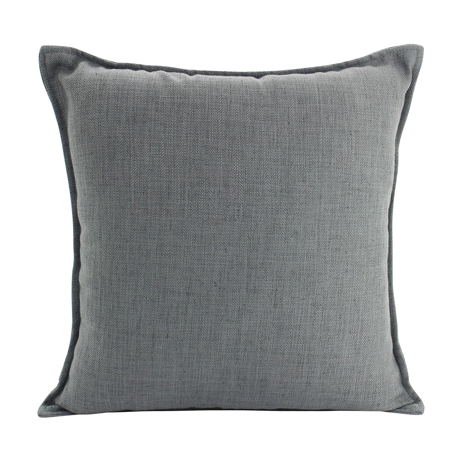 Farra Linen Euro Cushion, Dark Grey