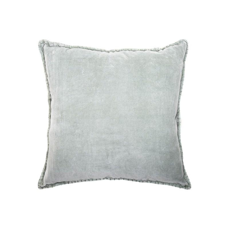 Fowey Edged Velvet Fabric Scatter Cushion, Sage
