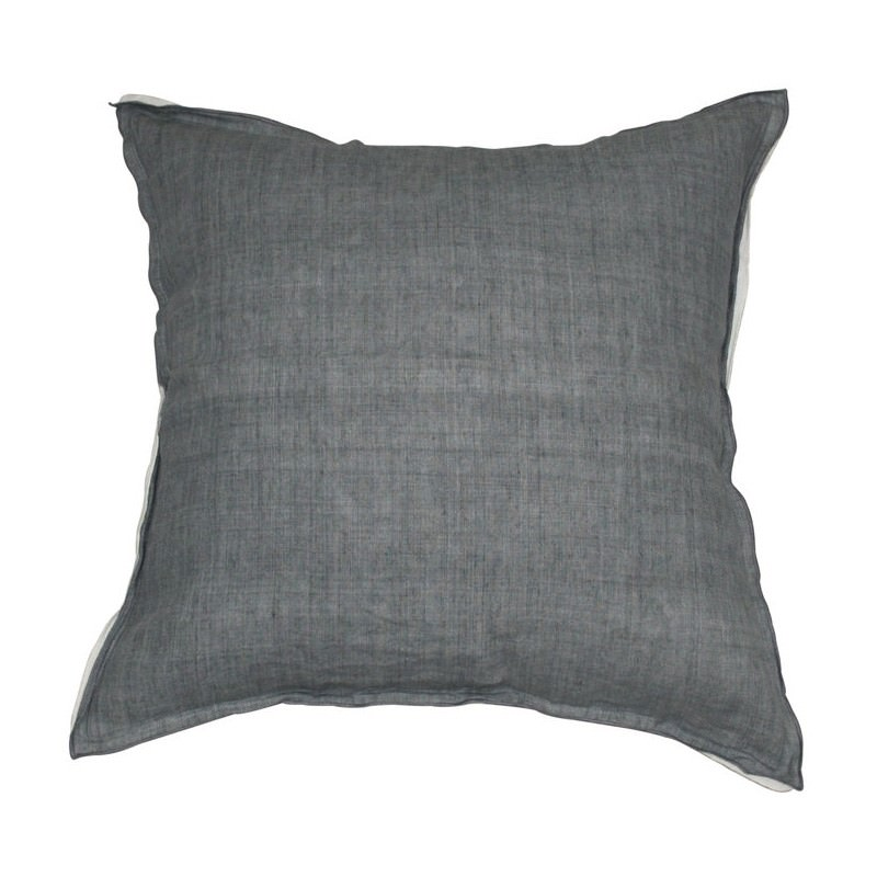 Lawrence Feather Filled Linen Scatter Cushion, Silver Grey