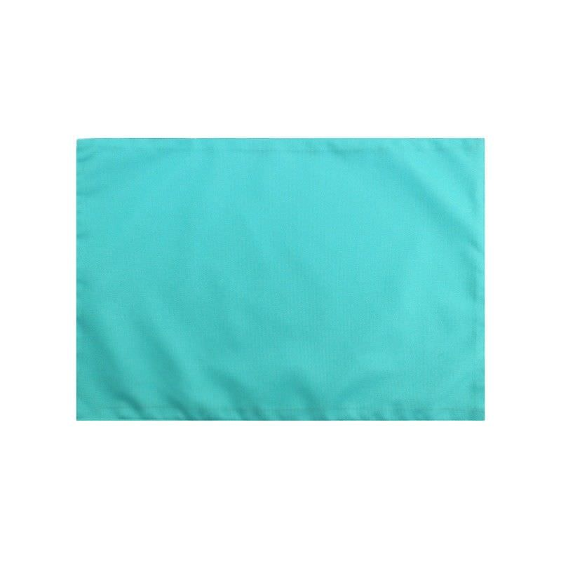 Set of 2 Swatch Plain Colour Indoor / Outdoor Fabric Placemats, Mint