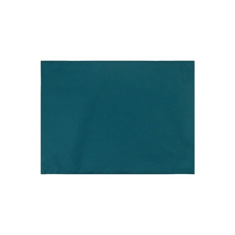 Set of 2 Swatch Plain Colour Indoor / Outdoor Fabric Placemats, Emerald