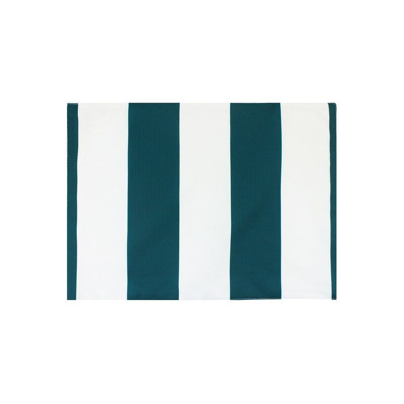 Minell Stripe Indoor / Outdoor Fabric Placemat, Emerald, Set of 2