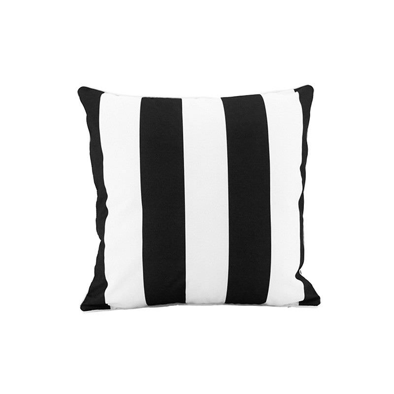 Minell Stripe Indoor / Outdoor Double Sided Scatter Cushion, Black