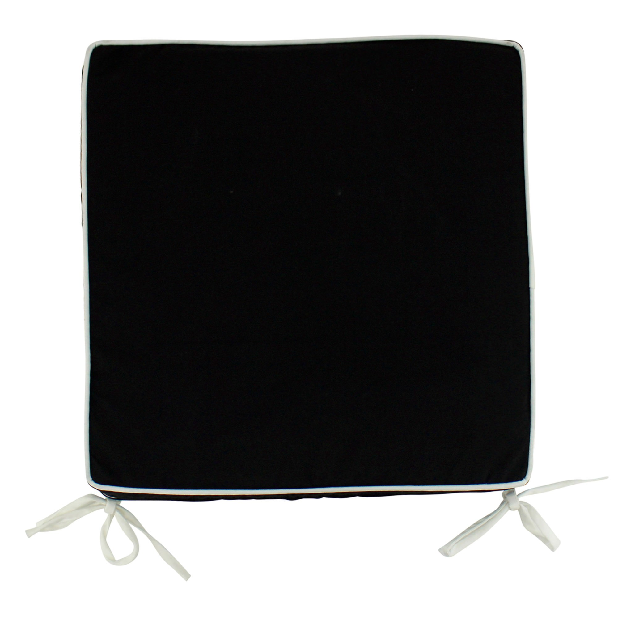 Glenmore Basic Indoor / Outdoor Double Sided Seat Pad, Black