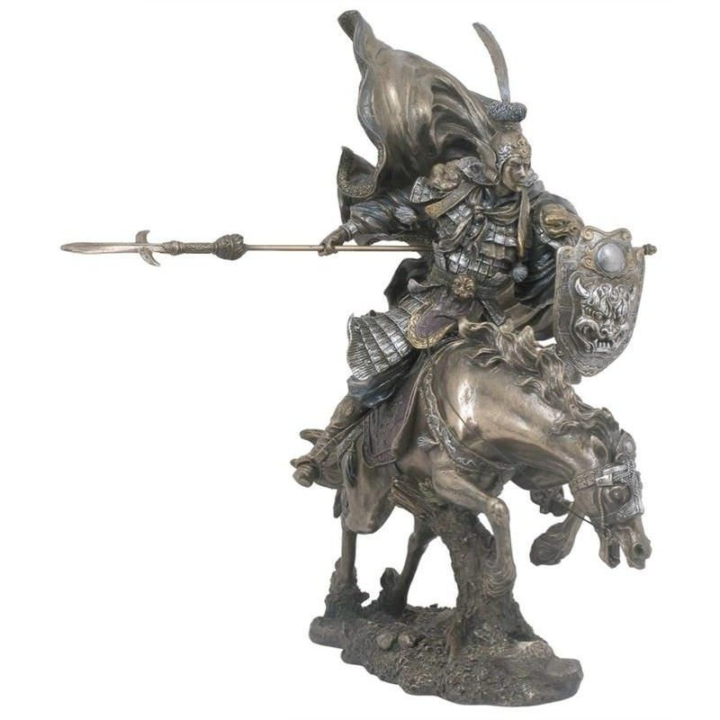 Cast Bronze Three Kingdom Legend Figurine, Zhao Yun