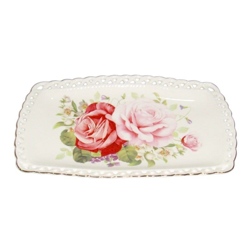 Pink Rosetray 10 Inch