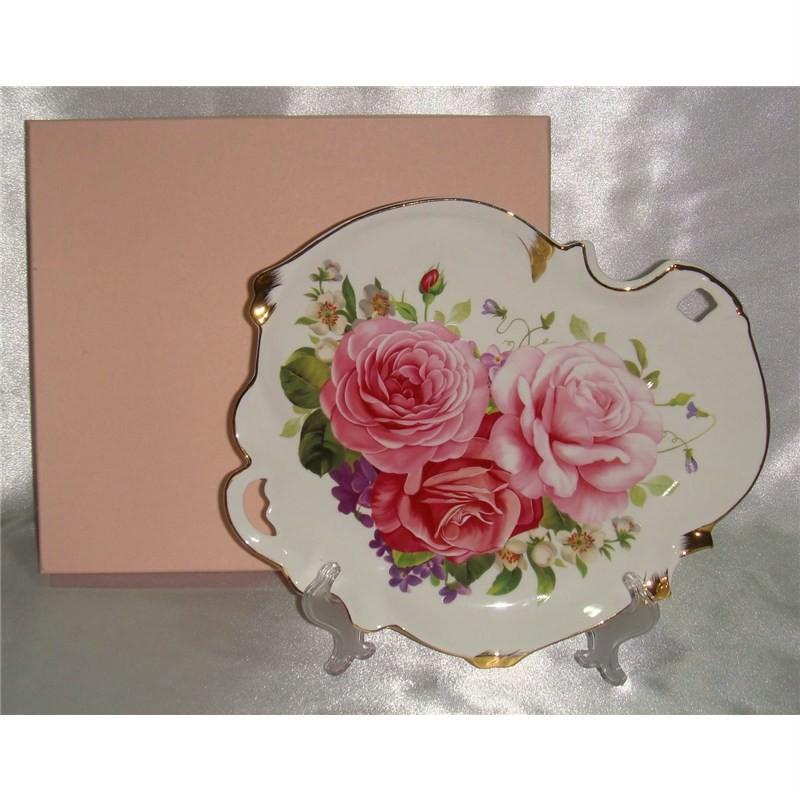 Pink Rose Tray 28X28Cm