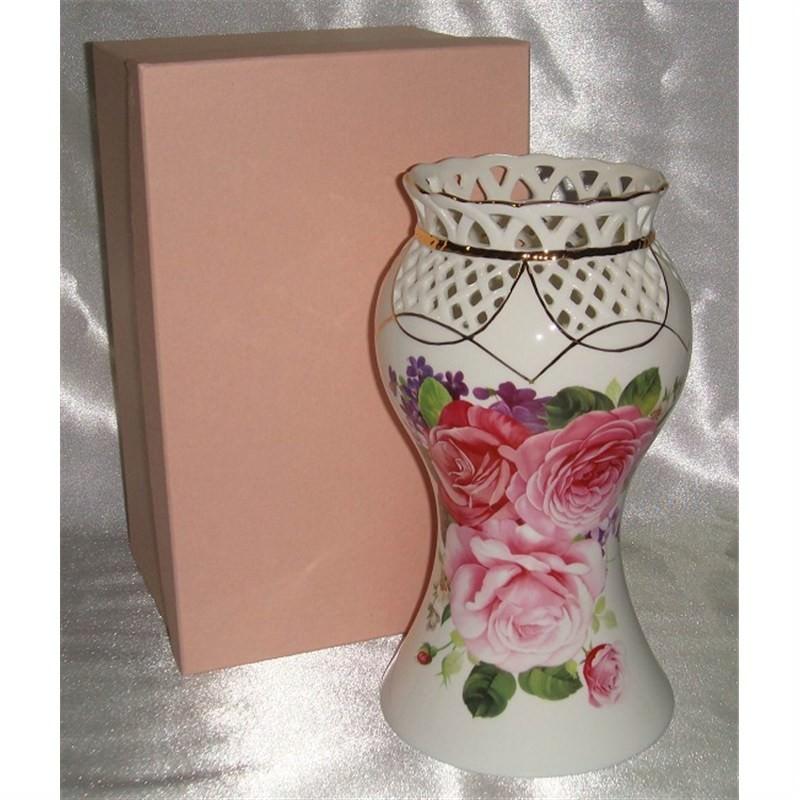 Pink Rose Vase 8 Inch