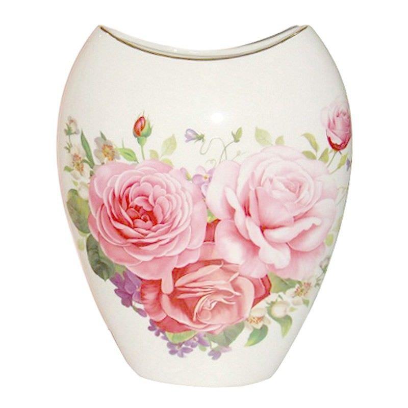 Pink Rose Vase 10 Inch